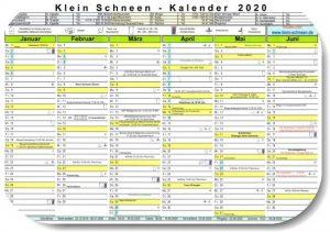 Klein Schneen Kalender 2020