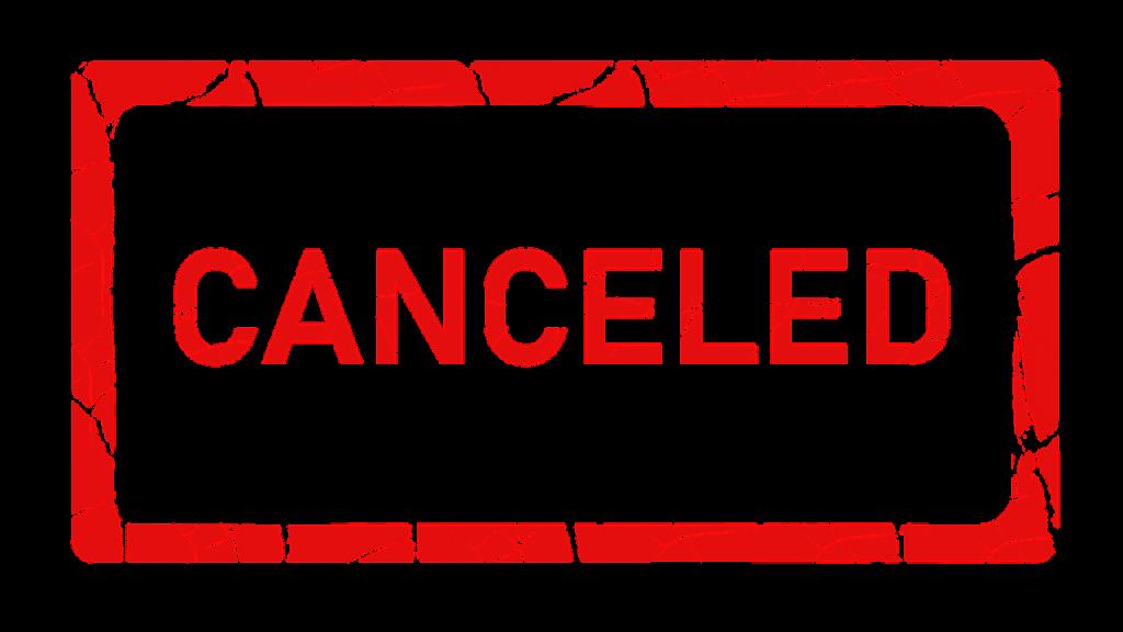 Corona - Veranstaltungen abgesagt