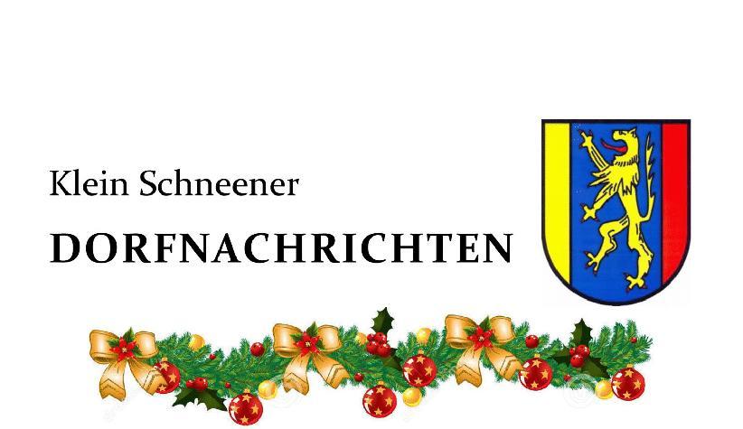 Klein Schneener Dorfnachrichten Dezember 2020